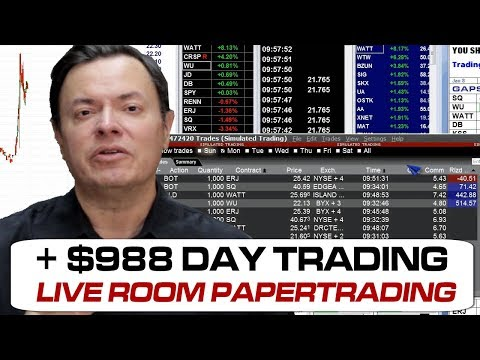 Day Trading +$988 papertrading WINNERS!