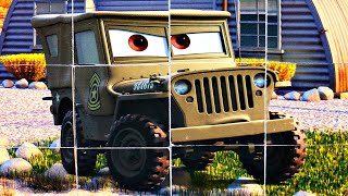 Тачки Молния Маквин - собираем кубики пазлы для детей из мультика Молния Маквин  Lightning McQueen