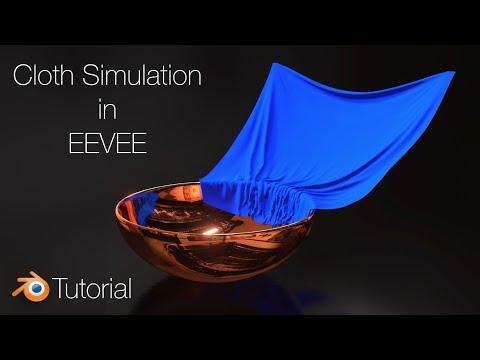 Blender 2.8 Tutorial: Cloth Animation in EEVEE