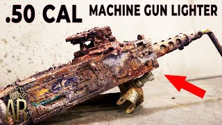 Broken Machine Gun Lighter Restoration - Browning M2 repair