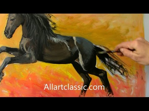 Horse Paintings and Art-Full Painting Process