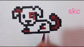 Dessin Pixel Art De Chien Univerthabitat