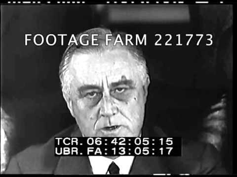 Roosevelt Statements & Signing Conscription Bill 221773-06 | Footage Farm