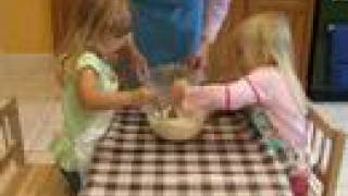 Kids And Cooking - Making Chocolate Chip Muffins