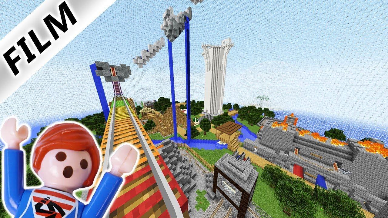 JULIAN REAGIERT AUF BOWL WORLD FREIZEITPARK BEI MINECRAFT - Minecraft hauser videos