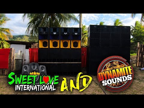 Dynamite Sound System And Sweet Love Sound System In St  Mary Jamaica | Sounds Systems SetUp Pt7