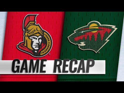Wild hang on for frantic 6-4 win against Senators