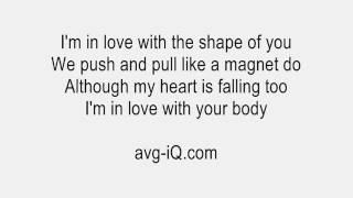 Shape Of You by Ed Sheeran Guitar Karaoke (key of F)