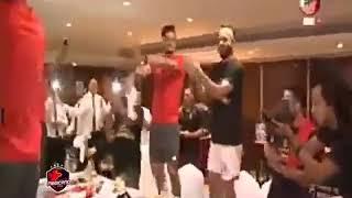 احتفال لاعبي الاهلي بكأس السوبر _لينا هيبة لينا شنة ورنة ♥️😂💪
