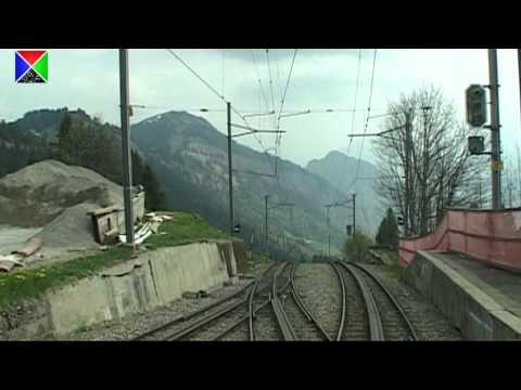 Führerstandsmitfahrt auf der Vitznau-Rigi-Bahn von Rigi Kulm nach Vitznau