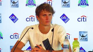 Citi Open 2018: Alexander Zverev Press Conference After Victory vs  Stefanos Tsitsipas   Semifinals
