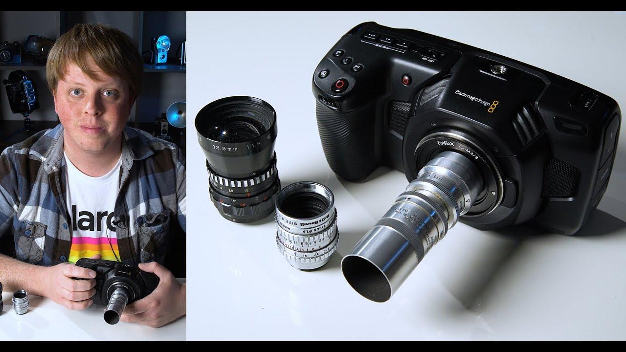 C Mount Lenses On The Blackmagic Pocket 4k Youtube