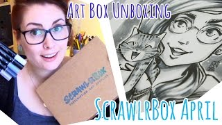 SCRAWLRBOX Unboxing + Speed Drawing (Manga Yourself)