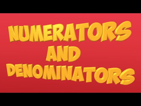 numerator and denominator song: fractions
