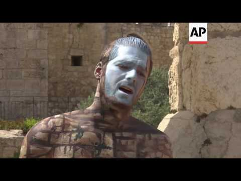 Body Artist Is Inspired By Israels Iconic Sites