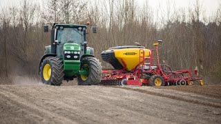 Wielki siew John Deere 7730 i Väderstad Spirit R300s #bylemnapolu Big sowing John Deere & Väderstad