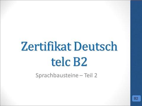 Prüfungsvorbereitung Telc B2 Sprachbausteine 2 Youtube