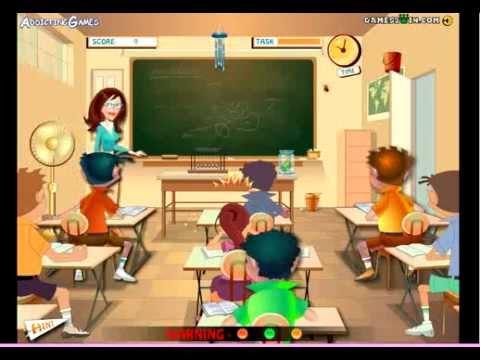 Girl Games Naughty Classroom Games Youtube
