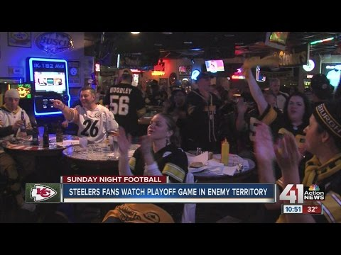 Steelers fans watch playoff game in enemy territory