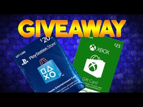 Psn Amp Xbox Gift Card Christmas Giveaway Closed Youtube