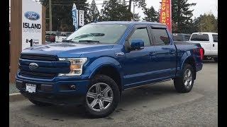 2018 Ford F-150 Lariat Leveled FX4 Sport 502A V8 SuperCrew Review| Island Ford