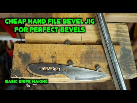 How To Make a Knife Bevel Jig For Knife Making. | Beginner Knife Making Series