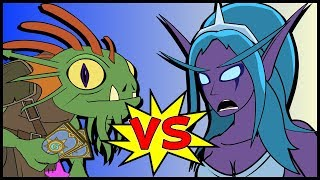 MORGL v TYRANDE A Hearthstone Cartoon