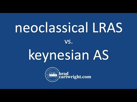 Aggregate Demand and Supply Series:  The Neoclassical LRAS vs Keynesian AS
