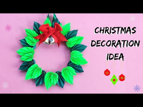 DIY Christmas Wreath | How to make Paper Christmas Wreath | Christmas Decoration Ideas 2019