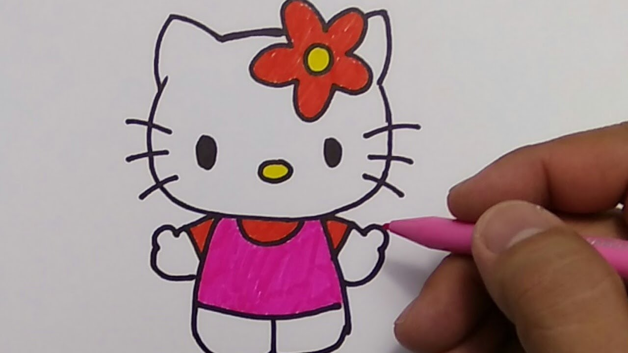 Belajar Menggambar Hello Kitty Youtube