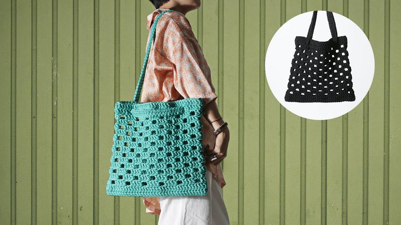 체커보드 코바늘 네트백 뜨기 / Checkerboard Crochet Net Bag
