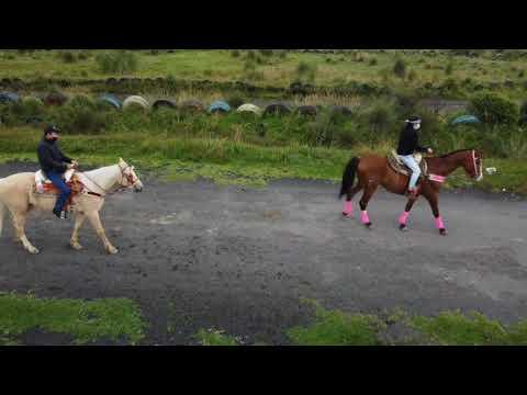 La marquesa montando a caballo