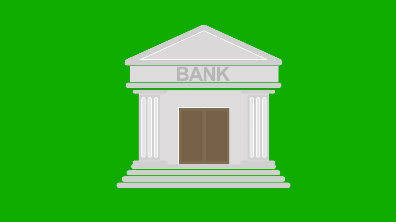 Animated Green Buildings : Animated bank building green screen youtube