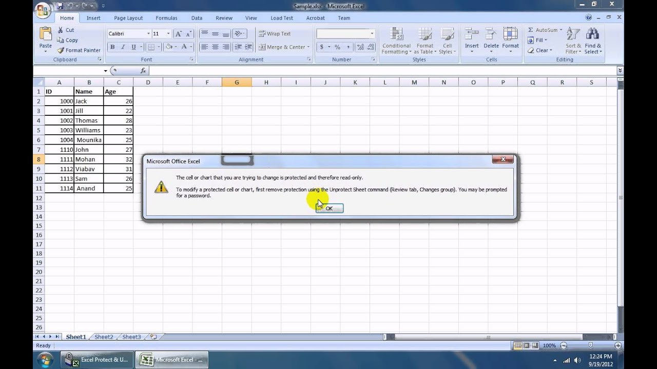 How To Use Excel Protect & Unprotect Multiple Sheets & Workbooks ...