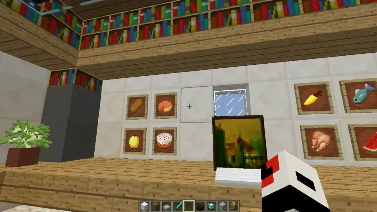 Minecraft Cool and Modern Office room interior design ...