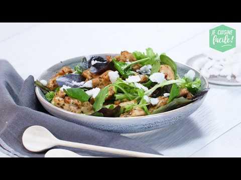 recette-facile-de-salade-croustillante-de-poulet-à-l'asiatique