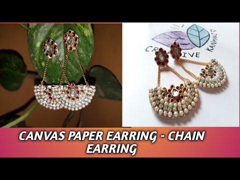 CANVAS PAPER EARRING DIY