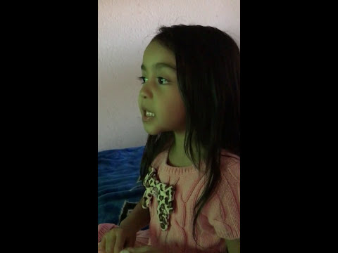 4 yr old sings Green Green Grass of Home Karaoke for her Daddys birthday on December 14, 2017
