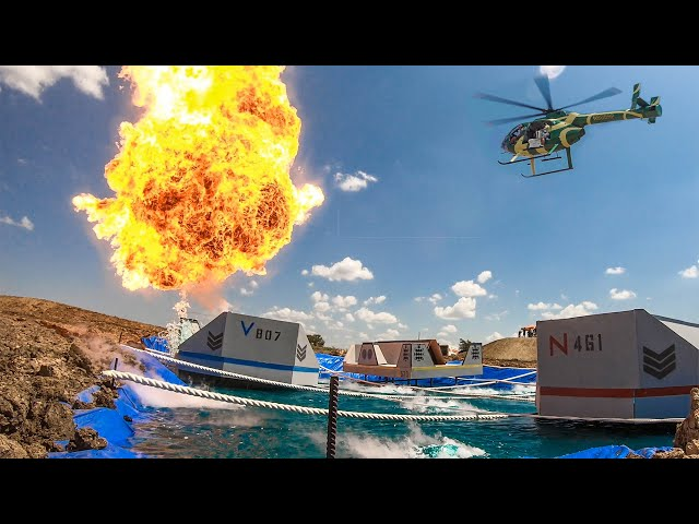 Helicopter Battleship Battle | Dude Perfect
