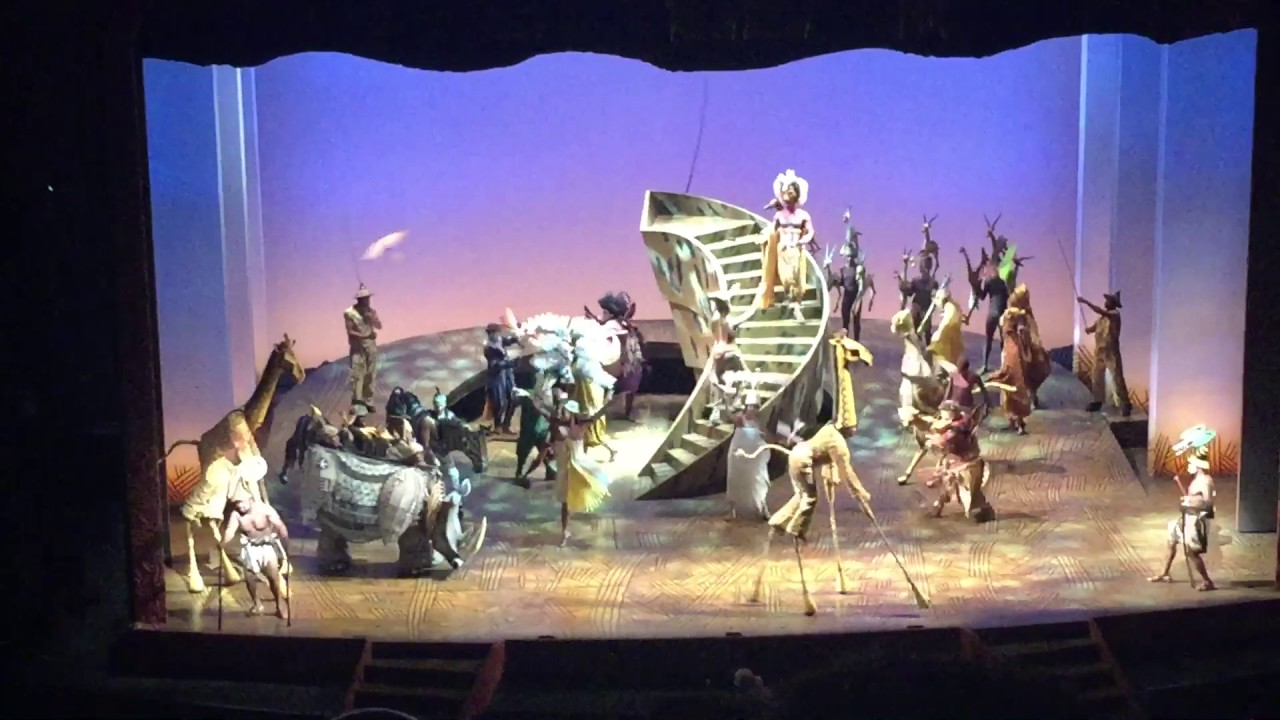 ending scene the lion king musical broadway