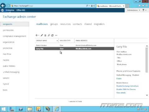 Creating an Email Address Policy in Exchange 2013
