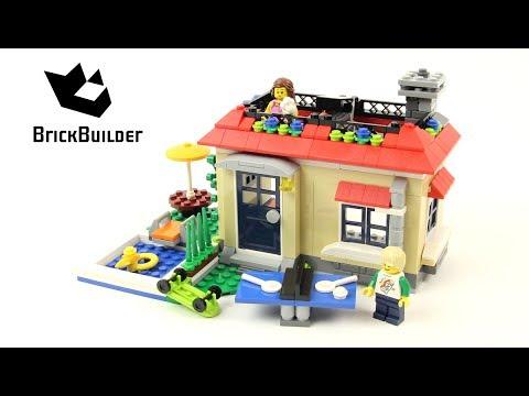 Lego Creator 31067 Modular Poolside Holiday Lego Speed Build Youtube