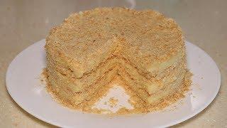 """Торт """"Наполеон"""" за 15 минут. Очень простой рецепт."""