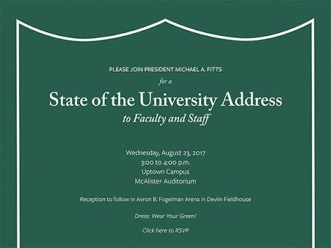 Tulane University   State of the University Address   2017