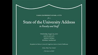 Tulane University   State of the University Address   2017