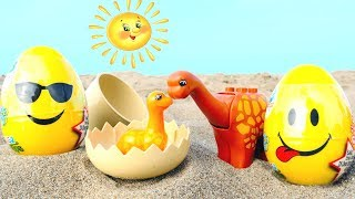 Мультики про динозавров с игрушками! Игры в песочнице.