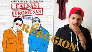 MENOR MENOR X FARRUKO - FALSAS PROMESAS (REMIX) [OFFICIAL AUDIO VIDEO] - REACCION