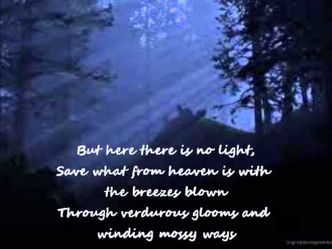 Ode To Nightingale Poem Recitation - YouTube