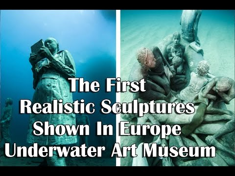 The First Realistic Sculptures Shown In Europe Underwater Art - Europes first ever underwater museum is full of hyperrealistic human sculptures
