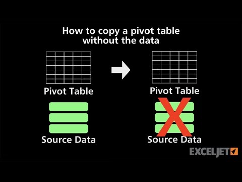 How to find pivot table source data in excel